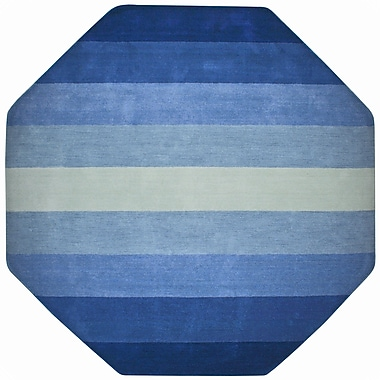 St. Croix Aspect Blue Stripes Area Rug; Octagon 8'