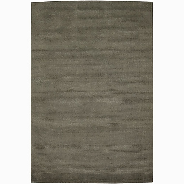 Chandra Ferno Gray Solid Area Rug; 2' x 3'