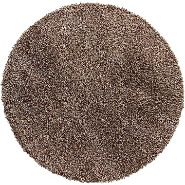 Chandra Zara Light Brown Area Rug; Round 7'9''