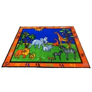 Kids World Precious Babies Safari Animals Area Rug; 6'6'' x 8'4''
