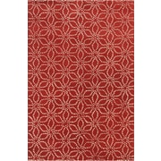 Chandra Stella Patterned Contemporary Wool Red/White Area Rug; 8' x 10'