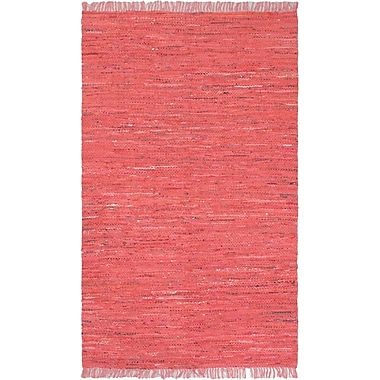 ECARPETGALLERY Sienna Dark Pink Open Field Area Rug