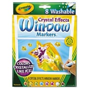 Crayola Crystal Effects Washable Window Markers (8 Pack)