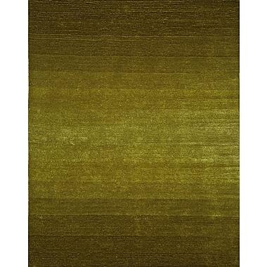 InnerSpace Luxury Products Artistry Dark Green/Citrus Green Center Line Stripe Rug; 8' x 10'