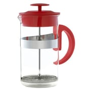 Grosche International Caf  Au Lait 33.81 Oz. French Press & Milk Frother Coffee Set; Red