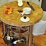 Chris & Chris Prep Table w/ Wood Top