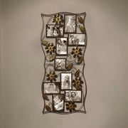 AdecoTrading 9 Opening Decorative Bronze-Color Iron Photo Collage Wall Hanging Picture Frame