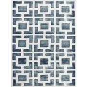 AMER Rugs Shibori Gray/White Area Rug; 7'6'' x 9'6''