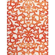 AMER Rugs Shibori White/Orange Area Rug; 7'6'' x 9'6''