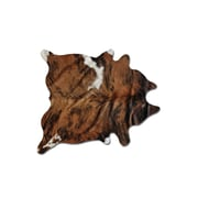 Natural Rugs Sienna Cowhide Brown/White Area Rug