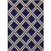 Unique Loom Trellis Navy Blue Area Rug; 7' x 10'