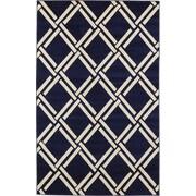 Unique Loom Trellis Navy Blue Area Rug; 5' x 8'