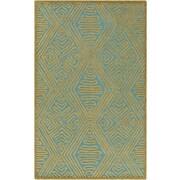 Surya Tulemola Teal/Olive Area Rug; 5' x 7'6''