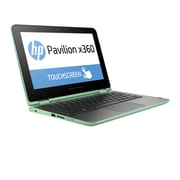 "HP  Pavilion x360 11.6"" LED IPS Intel Pentium N3700 Quad-Core 500GB HDD 4GB RAM Windows 10 Tablet PC, Mint Green"