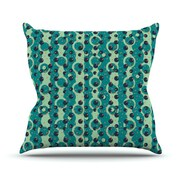 KESS InHouse Bubbles Made of Paper Polyester Throw Pillow; 26'' H x 26'' W