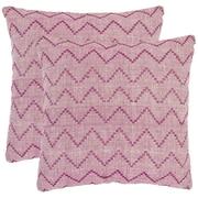 Safavieh Victor Decorative Cotton Throw Pillow (Set of 2); 22'' H x 22'' W