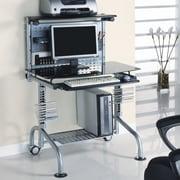 Innovex Pilot 34.7'' Glass Series Workstation Computer Desk; Black