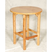 Moon Valley Rustic Bistro Table; Unfinished