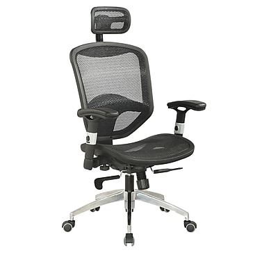 Chintaly Mid-Back Adjustable Mesh Office Chair with Headrest