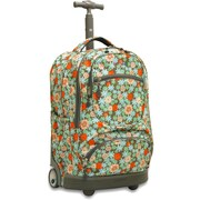 J World Sunburst Laptop Rolling Backpack