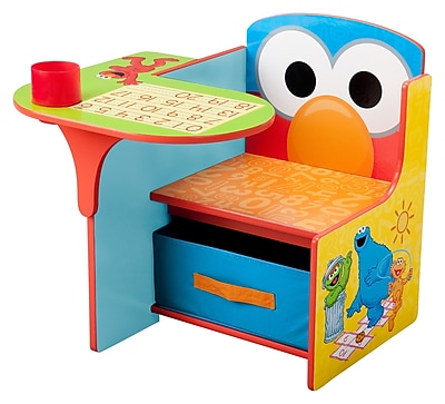 Delta Children Sesame Street Kids Desk Chair w/ Storage Compartment and Cup Holder WYF078276243428