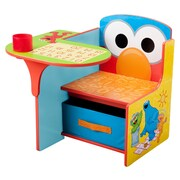 Delta Children Sesame Street Kids Desk Chair w/ Storage Compartment and Cup Holder