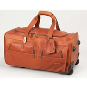 Claire Chase Luggage 22'' 2-Wheeled Leather Travel Duffel; Saddle