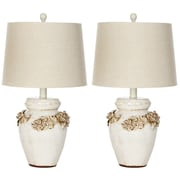 Safavieh Ceramic 24'' H Table Lamp with Empire Shade (Set of 2)