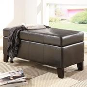 Modus Urban Seating Bedroom Storage Bench; Chocolate