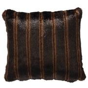 Wooded River Nutmeg Leaf Fancy Mink Faux Fur Throw Pillow