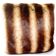Ital Art Design Fancy Furs Chinchilla Faux Fur Throw Pillow