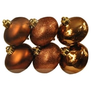 Queens of Christmas Smooth Onion Ornament (Set of 6); Chocolate Brown