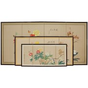 Oriental Furniture 24'' Butterflies in The Garden 4 Panel Room Divider