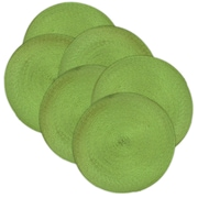 Design Imports Braided Placemat (Set of 6); Lime
