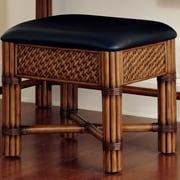 Home Styles Marco Island Vanity Bench; Cinnamon