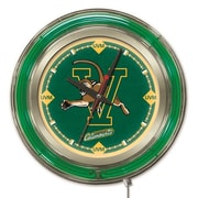 Holland Bar Stool NCAA 15'' Double Neon Ring Logo Wall Clock; Vermont