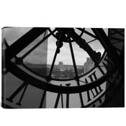 iCanvas Clock Tower in Paris Photographic Print on Wrapped Canvas; 18'' H x 26'' W x .75'' D