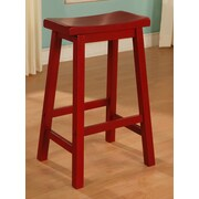 Powell Saddle Bar Stool; Red