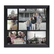 AdecoTrading 5 Opening Decorative Wood Photo Collage Wall Hanging Picture Frame