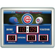 Team Sports America MLB ScoreBoard Wall Clock with Thermometer; Boston Red Sox