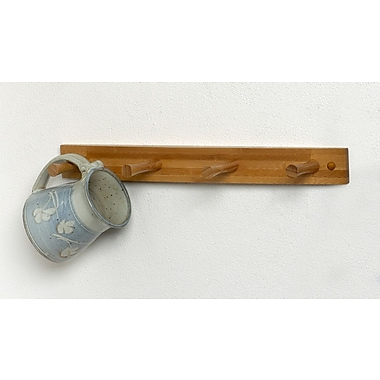 Spectrum Diversified Wall Mount 4-Peg Rack; Bamboo