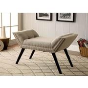 Hokku Designs Linden Upholstered Entryway Bench I; Ivory