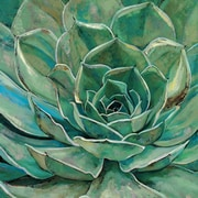Portfolio Canvas Agave Bloom by Elinor Luna Painting Print on Wrapped Canvas
