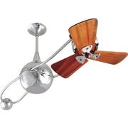 Matthews Fan Company 40'' Brisa 2000 3 Wooden Blade Rotational Ceiling Fan; Black
