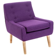 Home Loft Concepts Reese Tufted Fabric Retro Side Chair; Purple