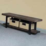 Alaterre Pomona Reclaimed Wood/Metal Storage Entryway Bench