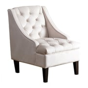 Abbyson Living Ella Tufted Swoop Side Chair