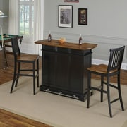 Home Styles Americana Home Bar Set; Black