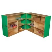 Wood Designs Versatile Folding Storage Unit; Green Apple