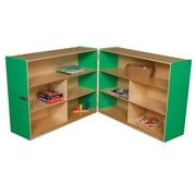 Wood Designs Versatile Folding Storage Unit; Green Apple